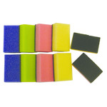 Super Prof  Super Prof Schuurspons assorti kleuren ca.90x58x30mm 10 stuks