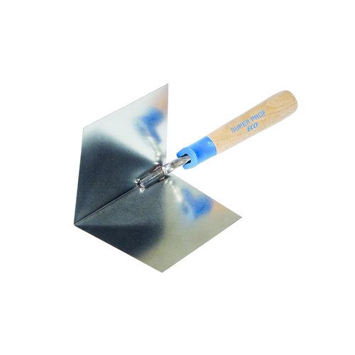 Super Prof  Super Prof Hoektroffel inwendig scherp 100x75 mm RVS Houten greep