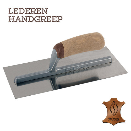 Super Prof  Super Prof Pleisterspaan PURE 350x120x0,65 mm RVS Handgreep Leer