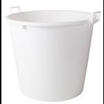 Super Prof  Super Prof Mortelkuip wit 125 liter met handgrepen, diam. 46/65 cm H. 54 cm