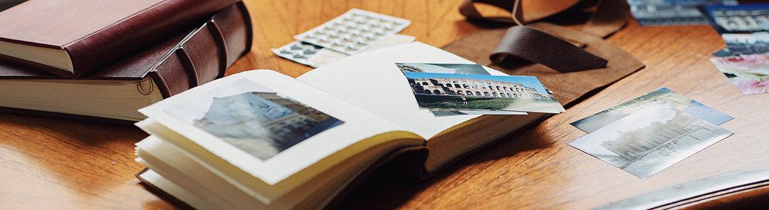 Leren fotoalbums