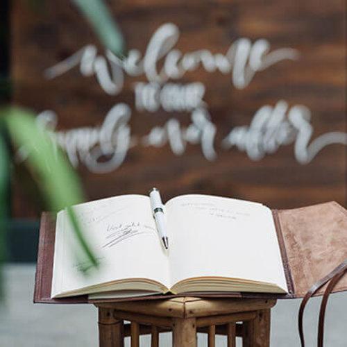 Leren Gastenboeken