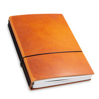 X17 Leren Travel Journal - Brandy