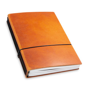X-17 Leren Travel Journal - Brandy