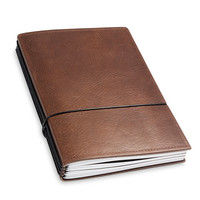 X17 Leren Travel journal / organizer - Kastanje