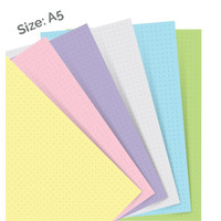 Filofax pastel dotted journal paper - A5