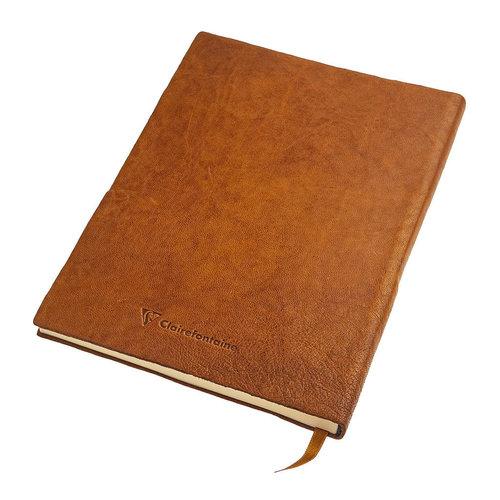 Clairefontaine Flying Spirit a5 leren notitieboek - Cognac