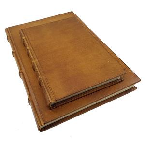 Legatoria Koiné Monterosso leren notitieboek  - Cognac