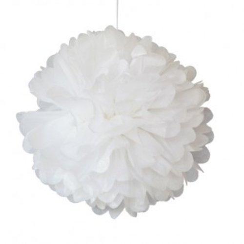 Engelpunt Pompon 30 centimeter wit