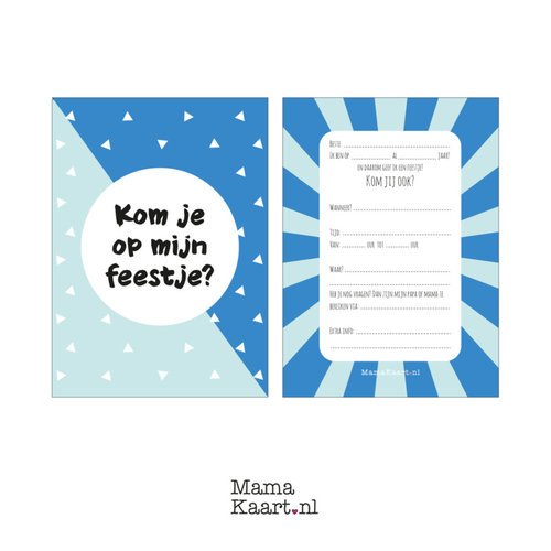 Mamakaart.nl Uitnodigingen verjaardag jongen