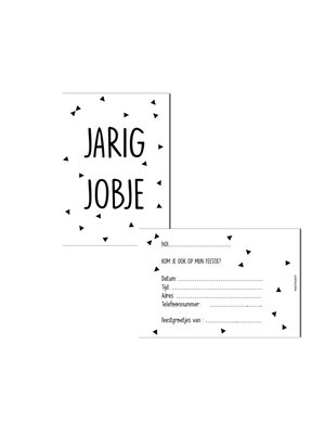 Huusje.nl Uitnodigingen Jarig Jobje