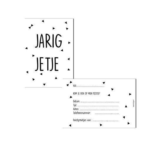 Huusje.nl Uitnodigingen Jarig Jetje