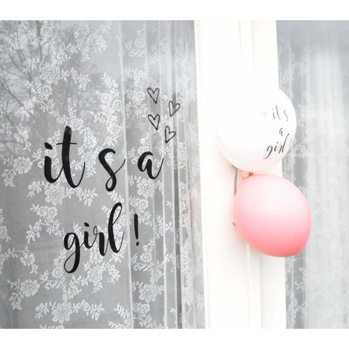 SuzyB Raamsticker It's a Girl