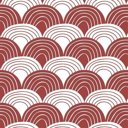 Swedish Linens Wieg hoeslaken | Burgundy
