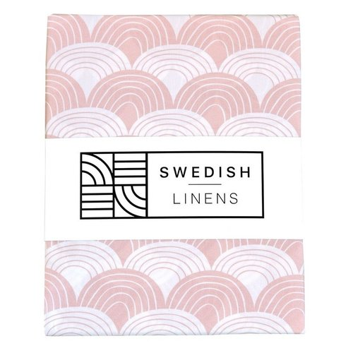 Swedish Linens Junior hoeslaken | Nudy Pink