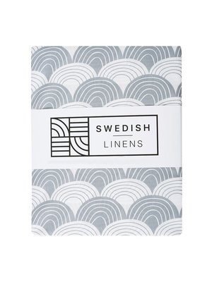 Swedish Linens Eénpersoons hoeslaken | Soft Grey
