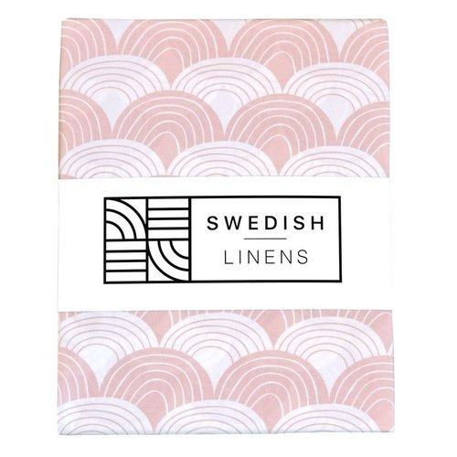 Swedish Linens Ledikant hoeslaken | Nudy Pink