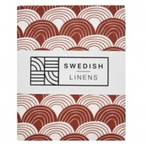 Swedish Linens Junior hoeslaken | Burgundy