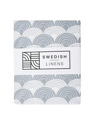 Swedish Linens Ledikant hoeslaken | Tranquil Gray