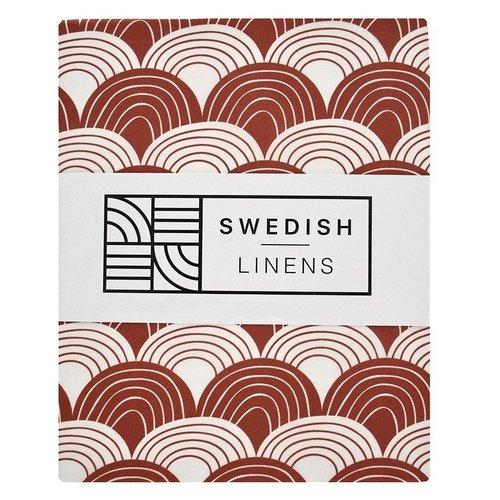 Swedish Linens Eénpersoons hoeslaken | Burgundy