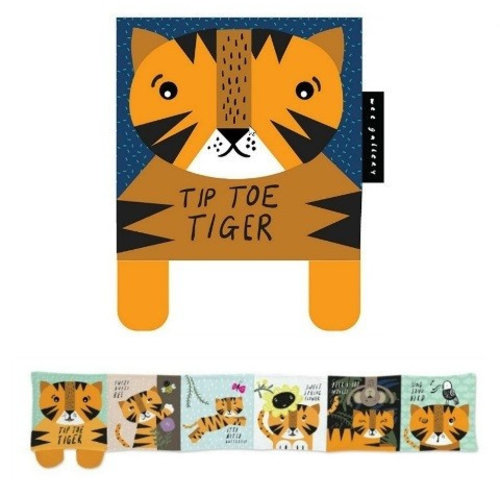 Wee Gallery Soft book tip toe Tiger 0+