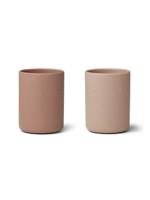 Liewood Ethan Cup Siliconen Bekers - Rose Mix (set van 2)
