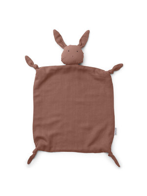 Liewood Agnete Knuffeldoek Rabbit | Dark Rose