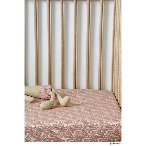 Swedish Linens Ledikant hoeslaken | shelves Terracotta Pink