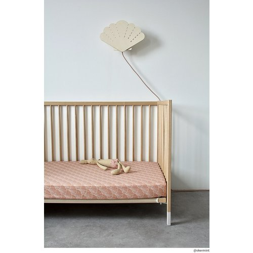 Swedish Linens Junior hoeslaken | Seashelves Terracotta Pink