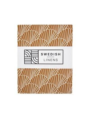 Swedish Linens Ledikant hoeslaken | Seashells Cinnamon