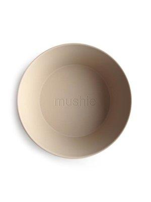 Mushie Kom rond (set van twee) | Vanille