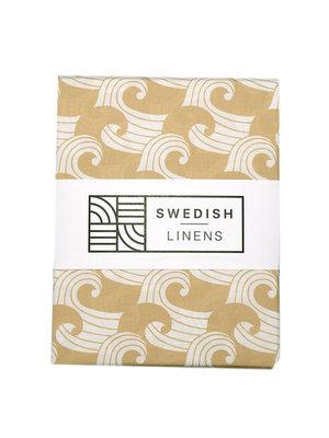 Swedish Linens Ledikant hoeslaken | waves warm sand