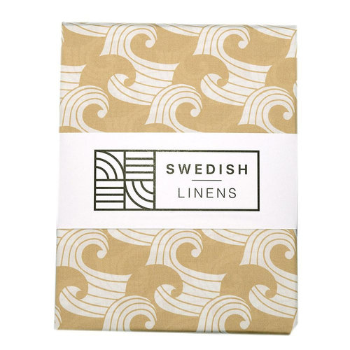 Swedish Linens Ledikant hoeslaken | waves warm sand
