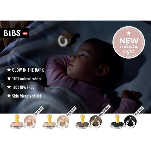 BIBS speen 18+ mnd Glow in the Dark | Cloud