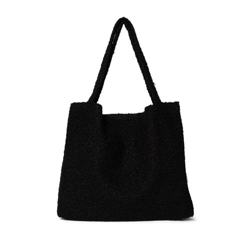Studio Noos Zwart bouclé mom bag
