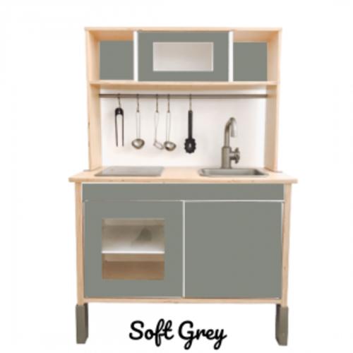Studio Skinky 12 delige stickerset Ikea Duktig keukentje | soft grey
