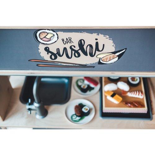 Stckrs online Stickerset Ikea Duktig Sushi Pieck & Mix