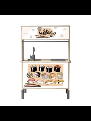 Stckrs online Stickerset Ikea Duktig keukentje | Sushi Salmon