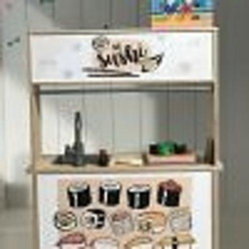 Stckrs online Stickerset Ikea Duktig keukentje   Sushi Salmon
