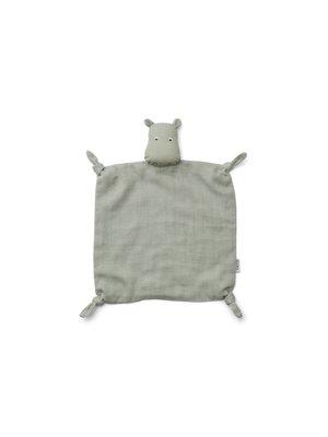 Liewood Agnete cuddlecloth knuffeldoekje | Hippo dove blue