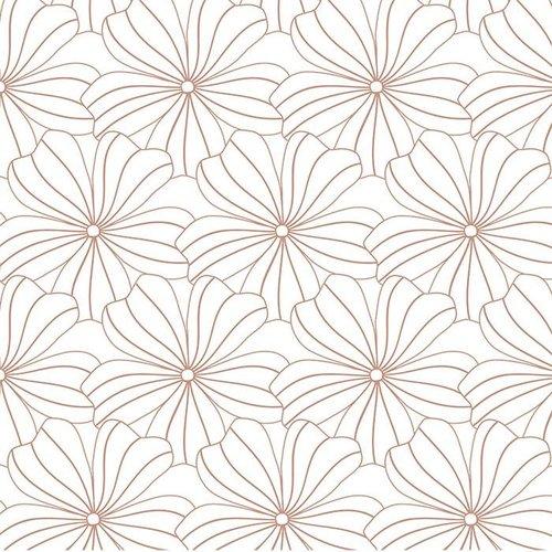 Swedish Linens Eenpersoons hoeslaken flowers | white