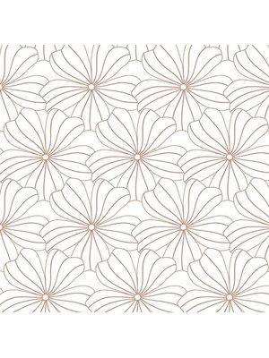 Swedish Linens Ledikant hoeslaken flower | white