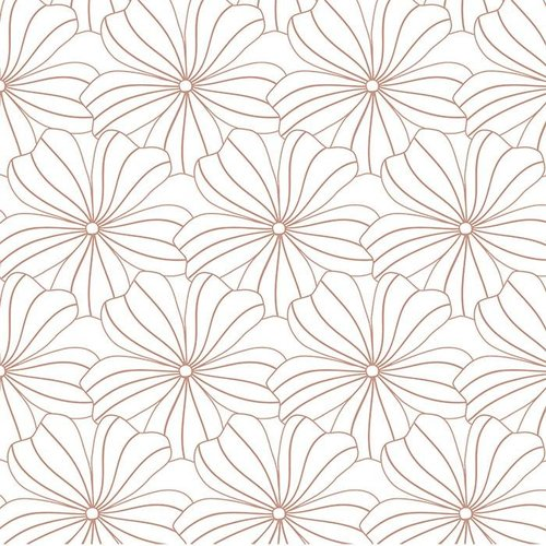 Swedish Linens Ledikant hoeslaken flower | white
