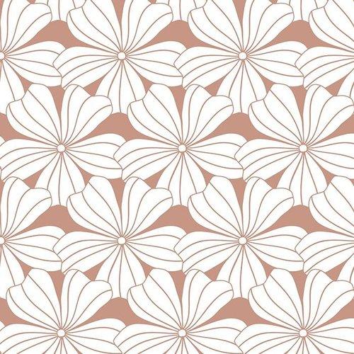 Swedish Linens Junior hoeslaken flowers | terracotta pink