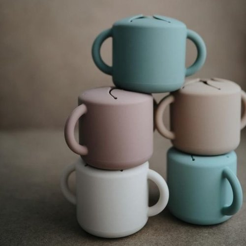Mushie Snack Cup | Cloudy Mauve