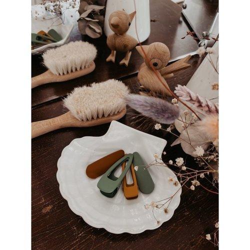 Grech & Co  Haarclips matte Burlwood | set van 2