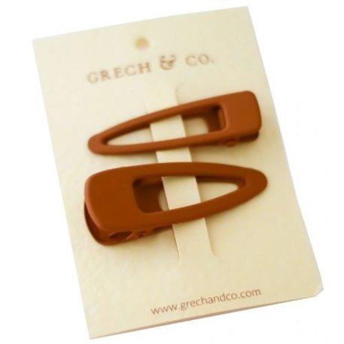 Grech & Co  Haarclips matte Spice | set van 2