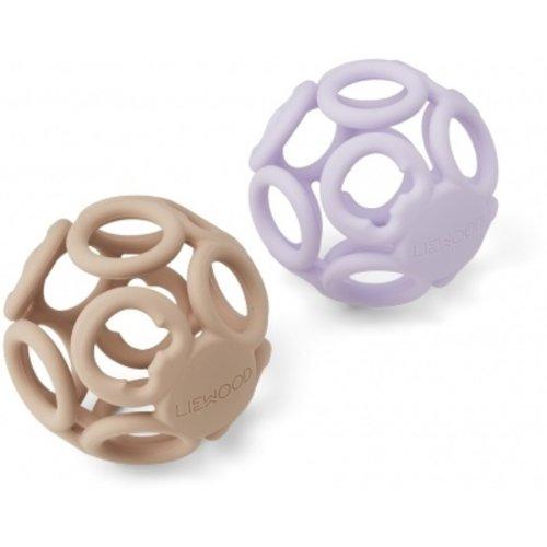 Liewood Jasmin teether ball 2 pack | light lavender rose mix