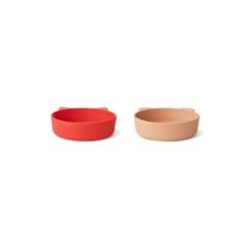 Liewood Kommen Vanessa bowl 2-pack   apple red tuscany rose mix