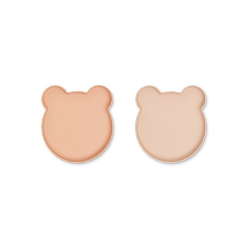 Liewood Marty plate 2 pack | rose mix